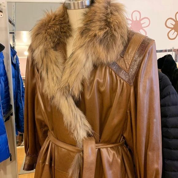 Beltrami Jackets & Blazers - Vintage Beltrami Leather, Snakeskin/Fox Fur Trench
